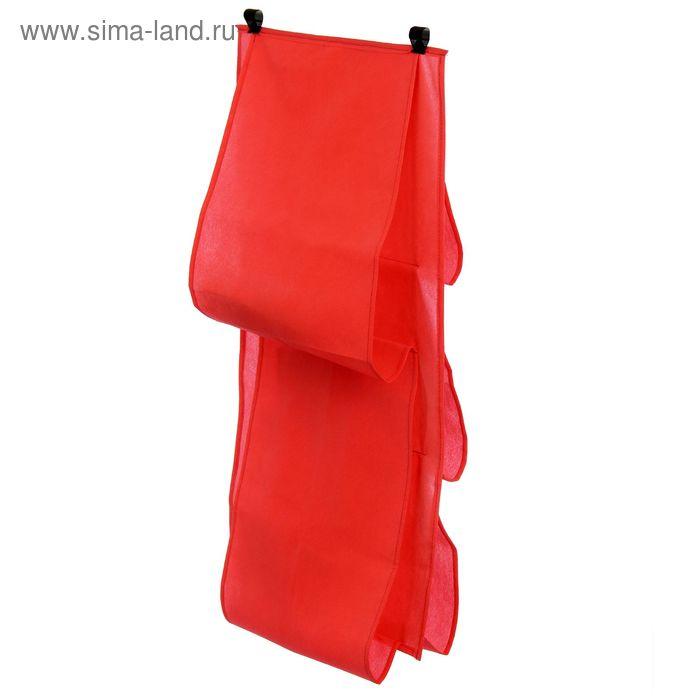 Органайзер для сумок подвесной, 80х45 см, цвет красный