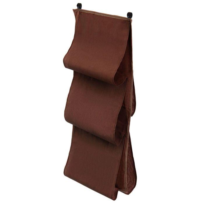 Органайзер для сумок подвесной, 80х45 см, цвет коричневый