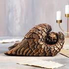 """Статуэтка """"Ангел в крыле"""" 17 см, бронзовый цвет - фото 1700222"""