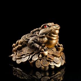 """Копилка """"Жаба"""", глянец, бронзовый цвет, 25 см, микс"""