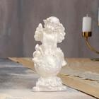 """Статуэтка """"Ангел на шаре"""" 21 см, перламутровая - фото 1700350"""