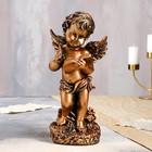 """Статуэтка """"Ангел с книгой"""", бронзовый цвет, 33 см - фото 1003739"""