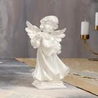 """Статуэтка """"Ангел с пергаментом"""" перламутровая"""