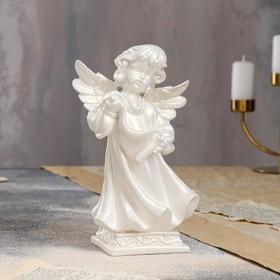 """Статуэтка """"Ангел с пергаментом"""", бежевый цвет, 23 см"""
