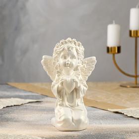 """Статуэтка """"Ангел с сердцем"""" перламутровая, 19 см"""
