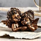 """Статуэтка """"Ангелы пара с алмазом"""" бронза"""