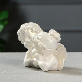 """Статуэтка """"Ангелы пара с алмазом"""" перламутровая, 11 см - фото 1521153"""