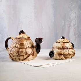 "Чайный набор ""Черепаха"", 2 предмета: чайник 1.1 л, сахарница 0.55 л"