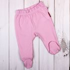 Ползунки с закрытыми ножками, рост 62 см (22), цвет розовый (арт. 531Я-361_М)