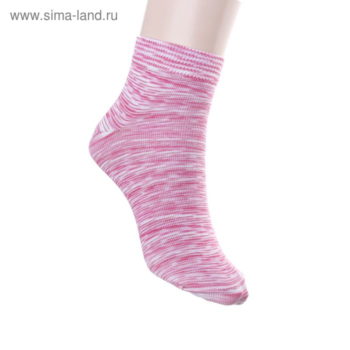 Носки женские арт.2231, размер 25, цвет розово-белый