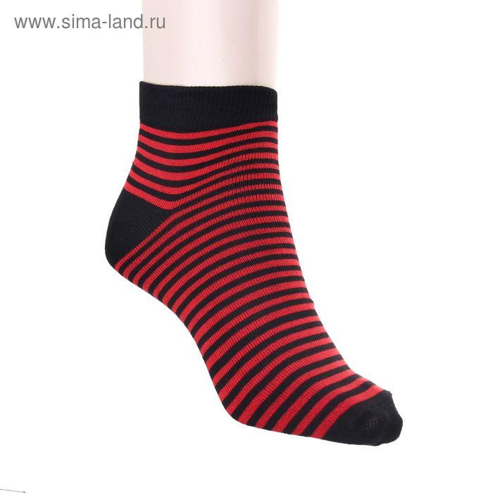 Носки женские арт.22230, размер 25, цвет красный/чёрный