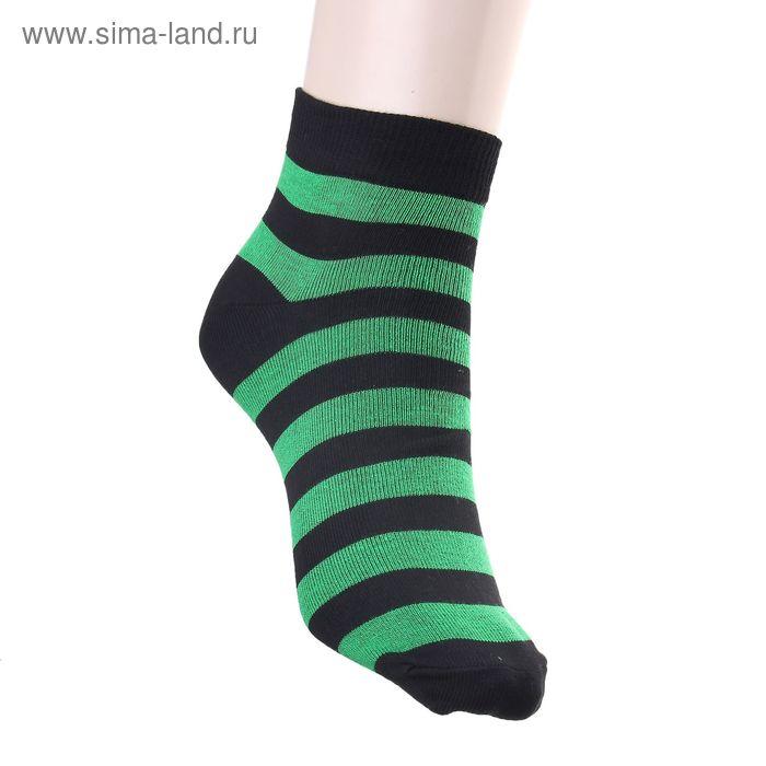 Носки женские арт.12230, размер 23, цвет чёрный/зелёный