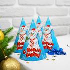 """Колпак бумажный """"С Новым годом"""" снеговик"""