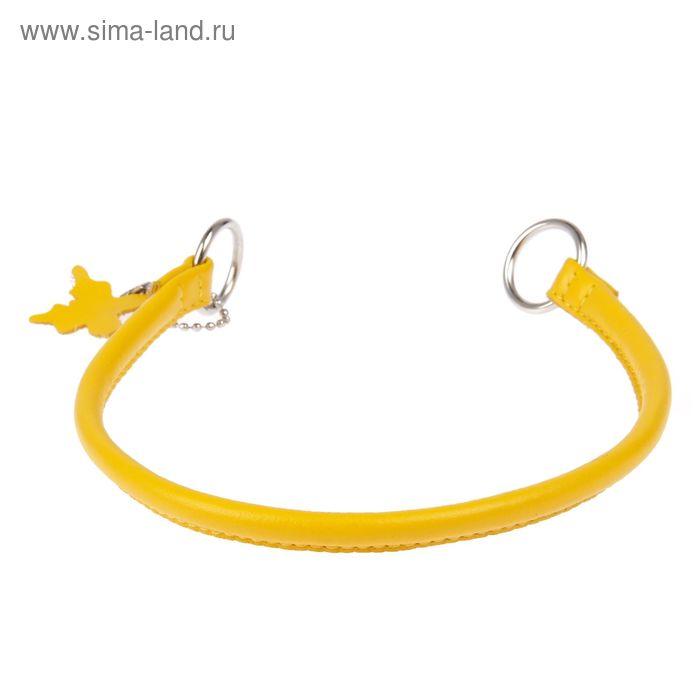 Ошейник-удавка рывковый CoLLaR Glomour, 35 х 0,8 см, желтый