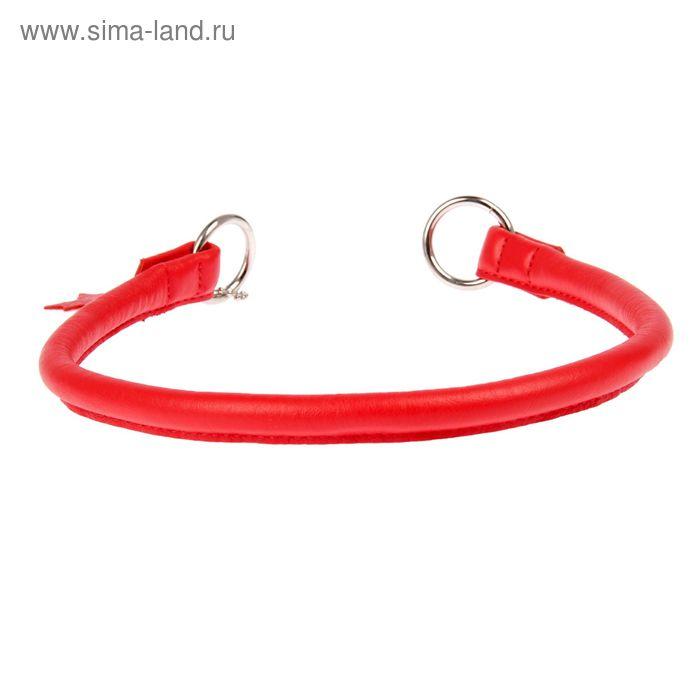 Ошейник-удавка рывковый CoLLaR Glomour, 55 х 1,3 см, красный