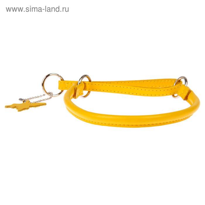 Ошейник-удавка CoLLaR Glomour, 40 х 0,8 см, желтый