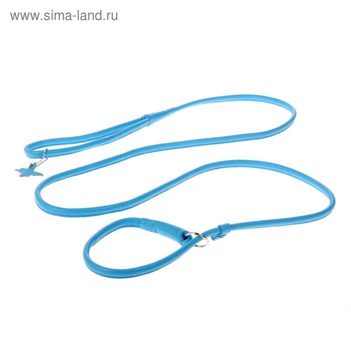 Поводок-удавка CoLLaR Glomour, 1.83 м х 0.8 см, синий