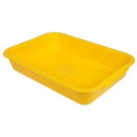 Туалет средний с сеткой, 36 х 26 х 6,5 см, желтый