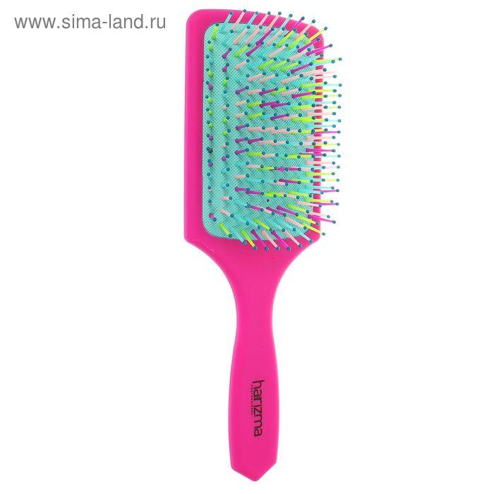 Расчёска массажная широкая, цвет розовый