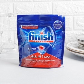 Таблетки для посудомоечных машин Finish Shine & Protect All in 1, 13 шт