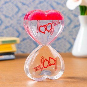 "Гелевые песочные часы ""Сердце"", 13х7.5х2 см  микс"