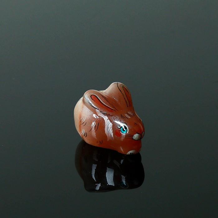 Сувенир «Кролик», малый, 5×3.5×3.5 см, селенит