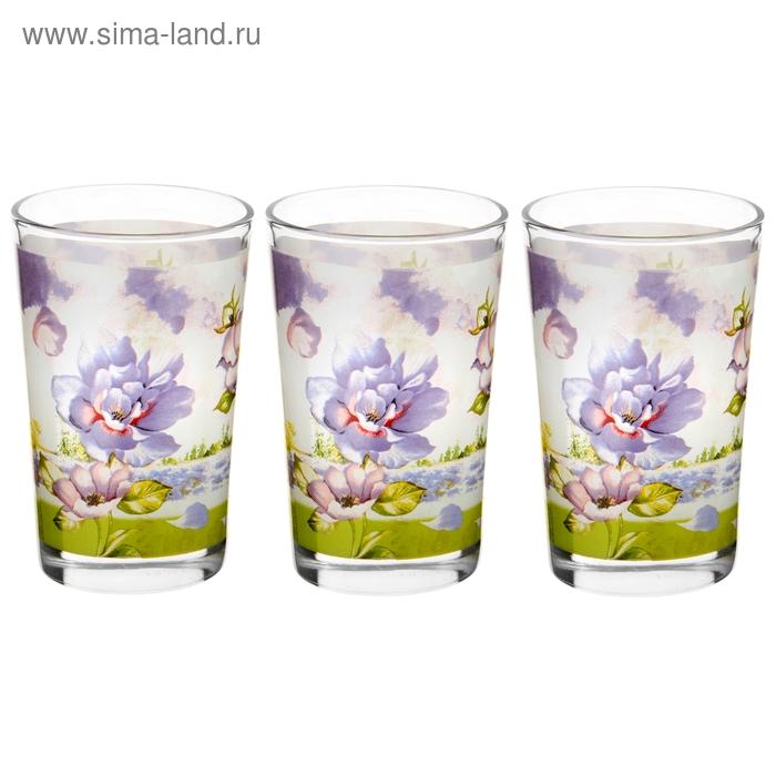 """Набор стаканов 250 мл """"Лиловый соблазн"""", 3 шт."""