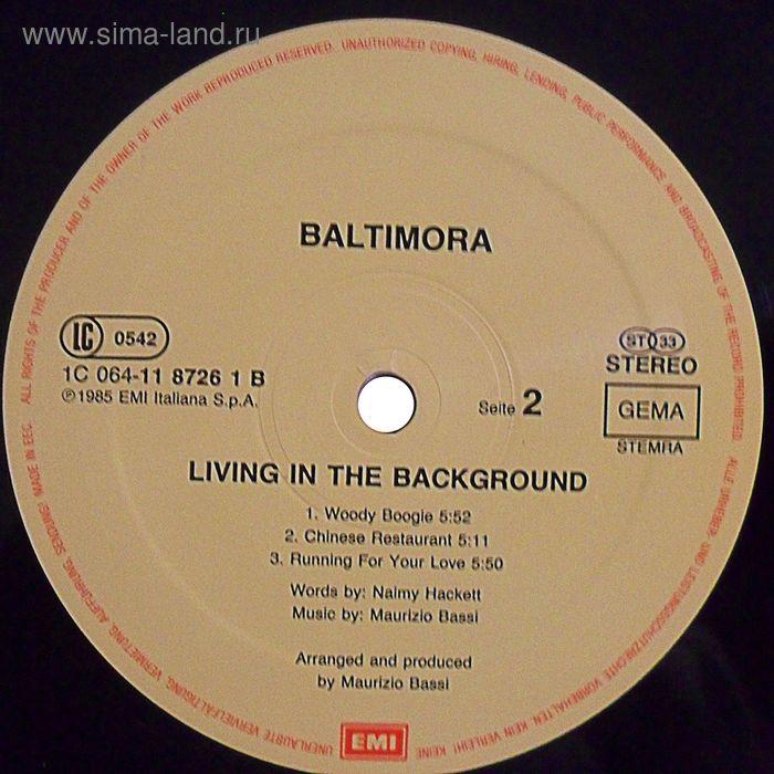 Виниловая пластинка Baltimora - Living In The Background
