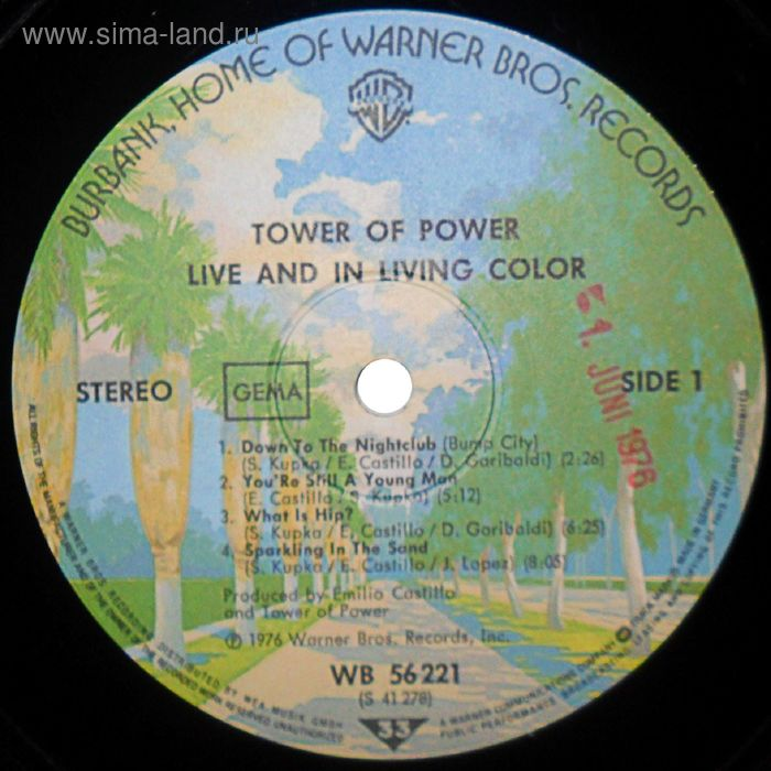 Виниловая пластинка Tower Of Power - Live And In Living Color