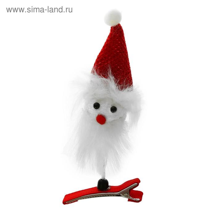 """Карнавальный зажим """"Дед Мороз в колпачке"""""""