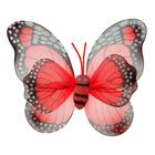 """Карнавальные крылья """"Бабочка"""", цвет красный"""