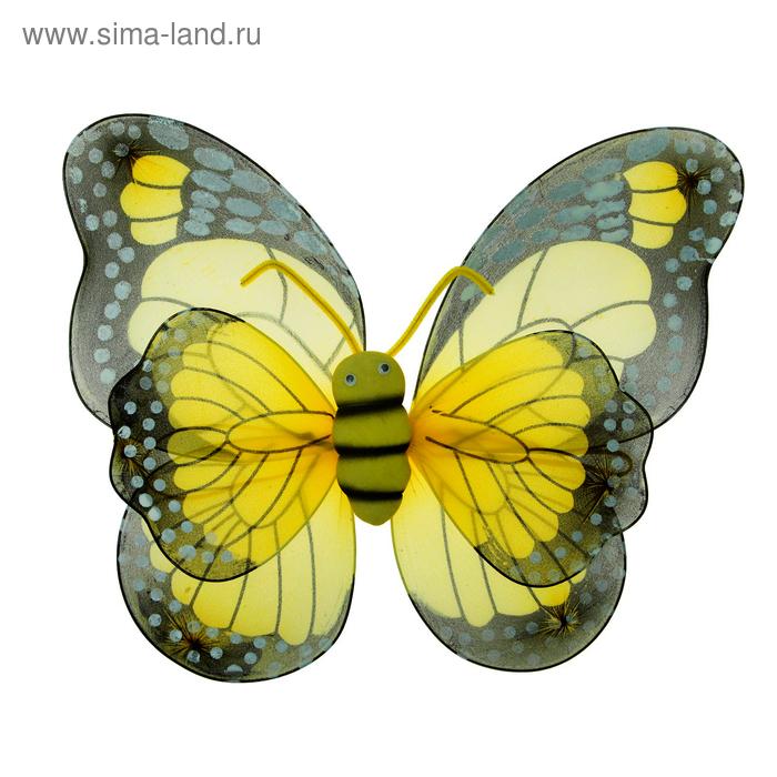 "Карнавальные крылья ""Бабочка"", цвет желтый"