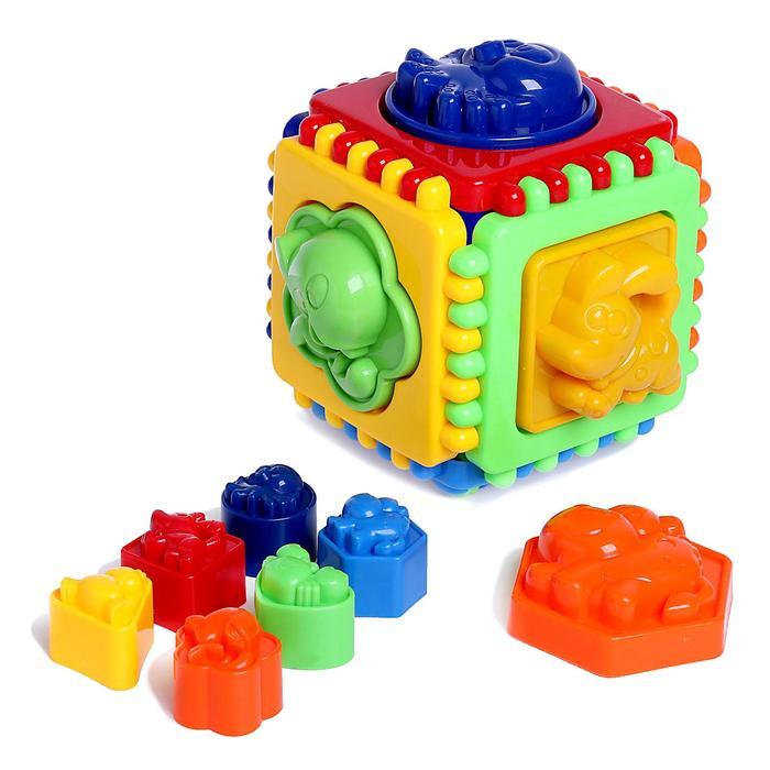 Развивающая игрушка «Куб», 12 элементов, формочки для песочницы