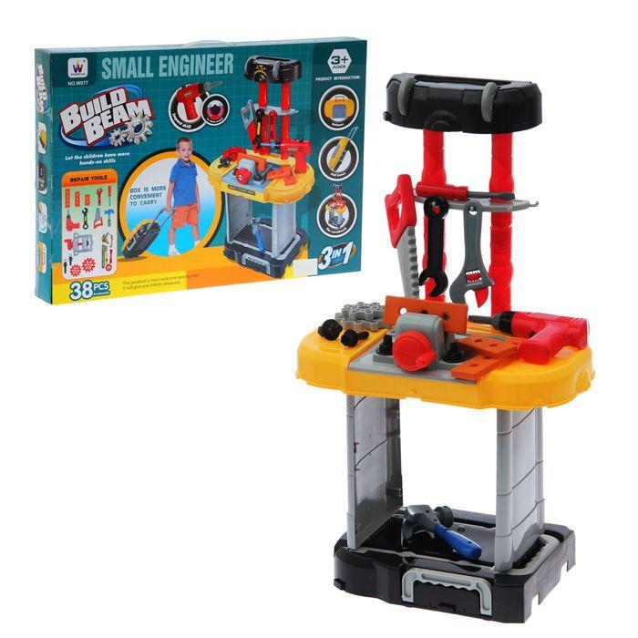 """Игровой модуль """"Юный инженер"""" 3 в 1, 38 элементов, в чемодане, трансформируется"""