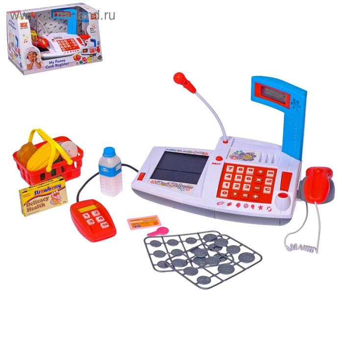"""Касса-калькулятор """"Мои покупки"""", с микрофоном, терминалом для приёма карточек, аксессуарами"""