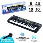Синтезатор «Музыкант-2» с микрофоном, 44 клавиши, работает от сети и от батареек