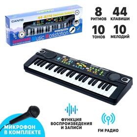 Синтезатор «Музыкант-2» с FM-радио, микрофоном, 44 клавиши, работает от сети и от батареек