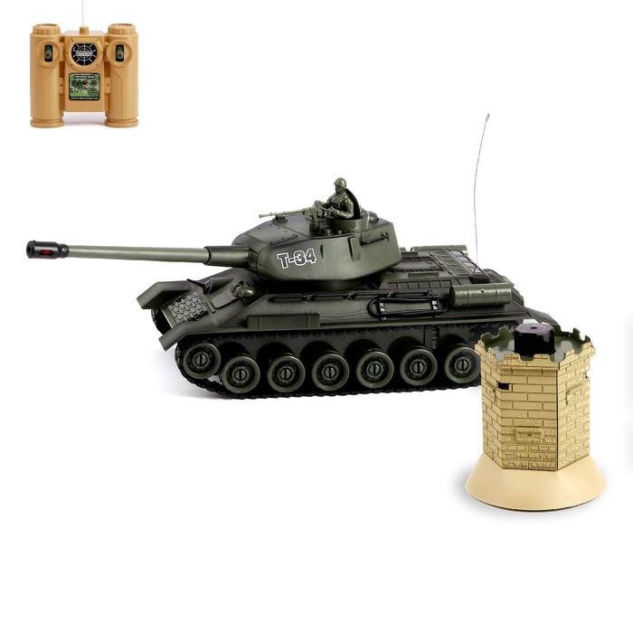 Танк радиоуправляемый «Т—34», с аккумулятором, с бункером
