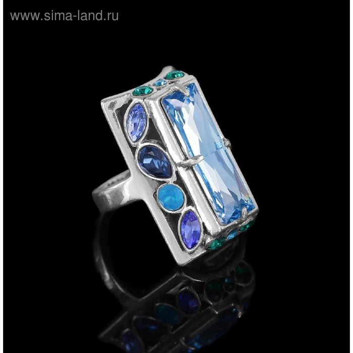 """Кольцо """"Донизети"""", размер 19, цвет голубой в черненом серебре"""