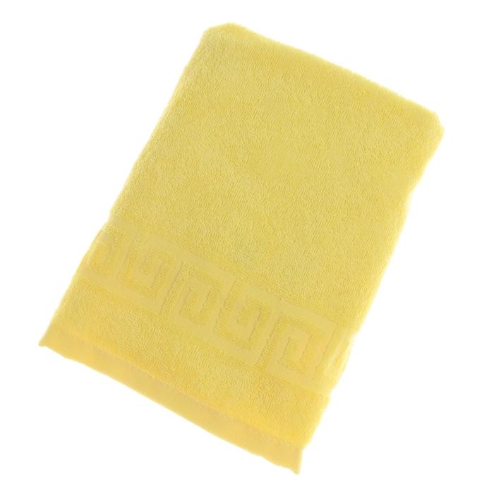 Полотенце махровое однотонное Антей цв лимон 50*90см 100% хлопок 430 гр/м2