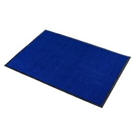 Коврик придверный влаговпитывающий, ребристый, «Стандарт», 80×120 см, цвет синий - фото 4657131