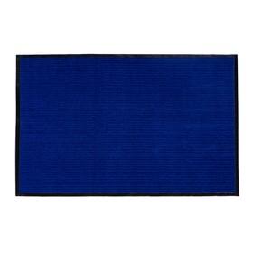 Коврик придверный влаговпитывающий, ребристый, «Стандарт», 80×120 см, цвет синий - фото 4657132