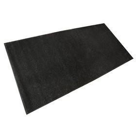 Коврик придверный влаговпитывающий, ребристый, «Стандарт», 120×250 см, цвет чёрный - фото 4657140