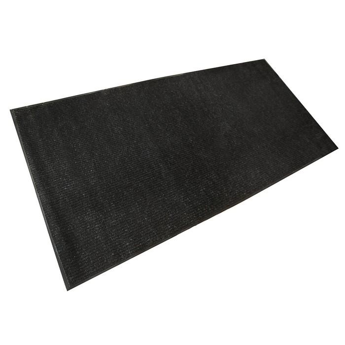 """Коврик влаговпитывающий ребристый 120х250 см """"Стандарт"""" цвет черный"""