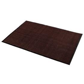 Коврик придверный влаговпитывающий, ребристый, «Стандарт», 120×250 см, цвет коричневый - фото 4657143
