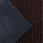 Коврик придверный влаговпитывающий, ребристый, «Стандарт», 120×250 см, цвет коричневый - фото 4657144