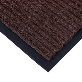 Коврик придверный влаговпитывающий, ребристый, «Стандарт», 120×250 см, цвет коричневый - фото 4657145