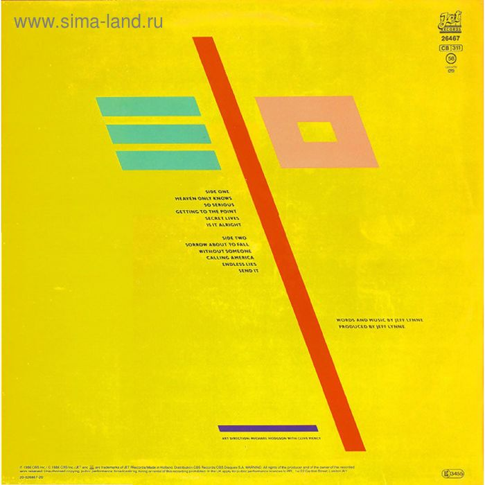 Виниловая пластинка Electric Light Orchestra - Balance Of Power