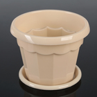 "The pot of flowers with pallet 0,7 l ""Eric"", color beige"