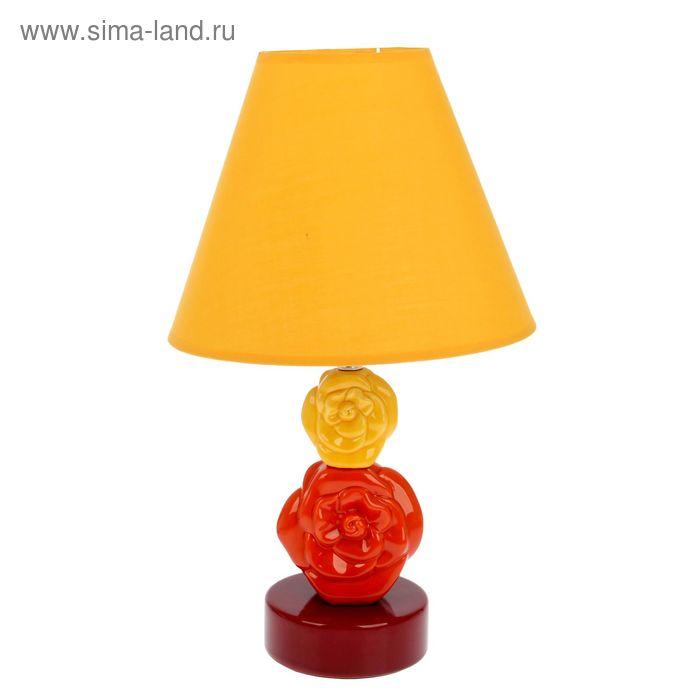 """Лампа настольная """"Цветочный шарм"""" песочный"""